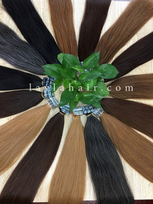 Cambodian Hair Tape Straight Hair Brown Color 24 Cambodian Hair