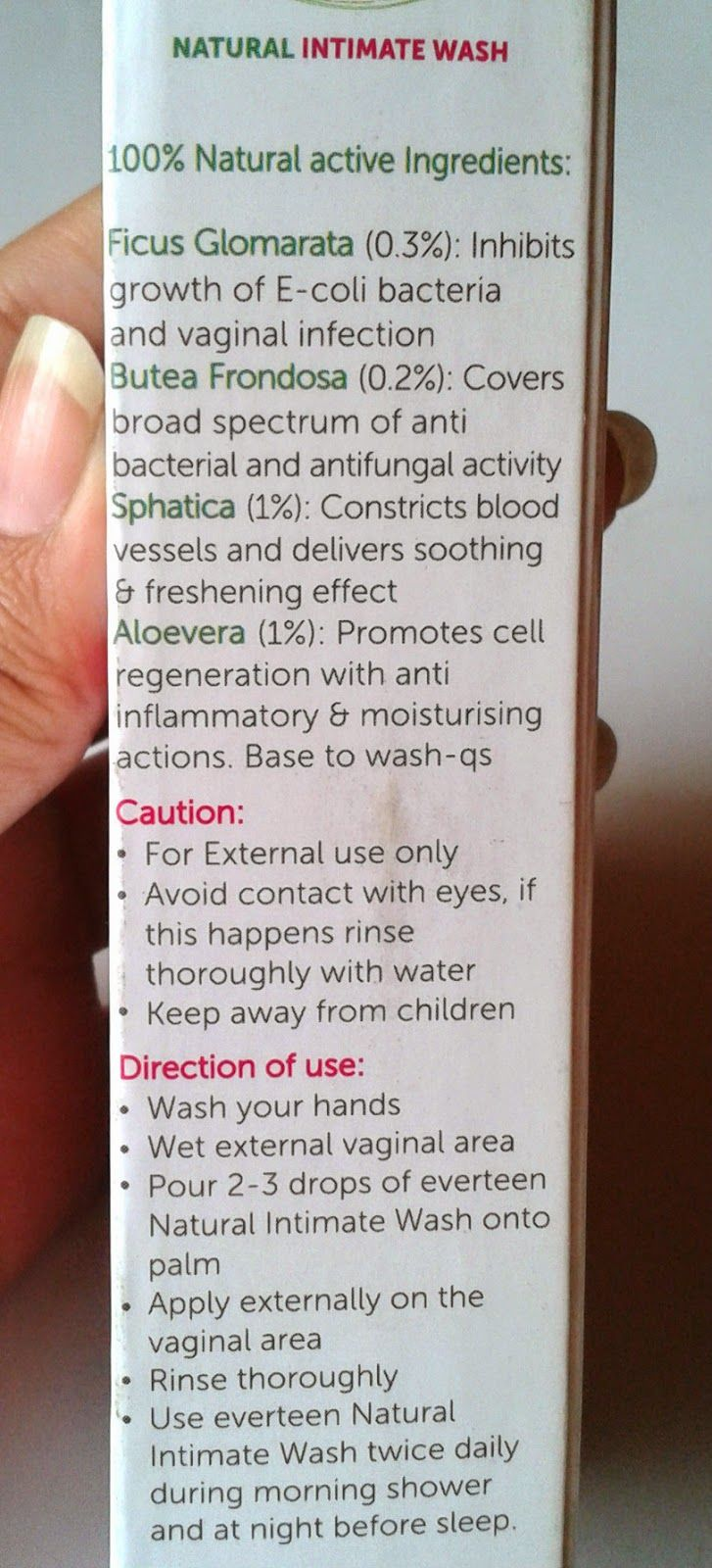 It contains all herbal ingredients which are known for improving the vaginal condition