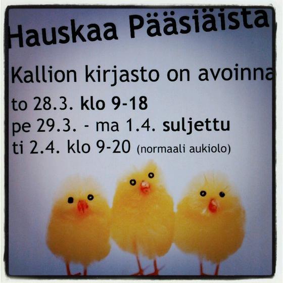 Hauskaa Pääsiäistä 2013!  T: henkilökunta