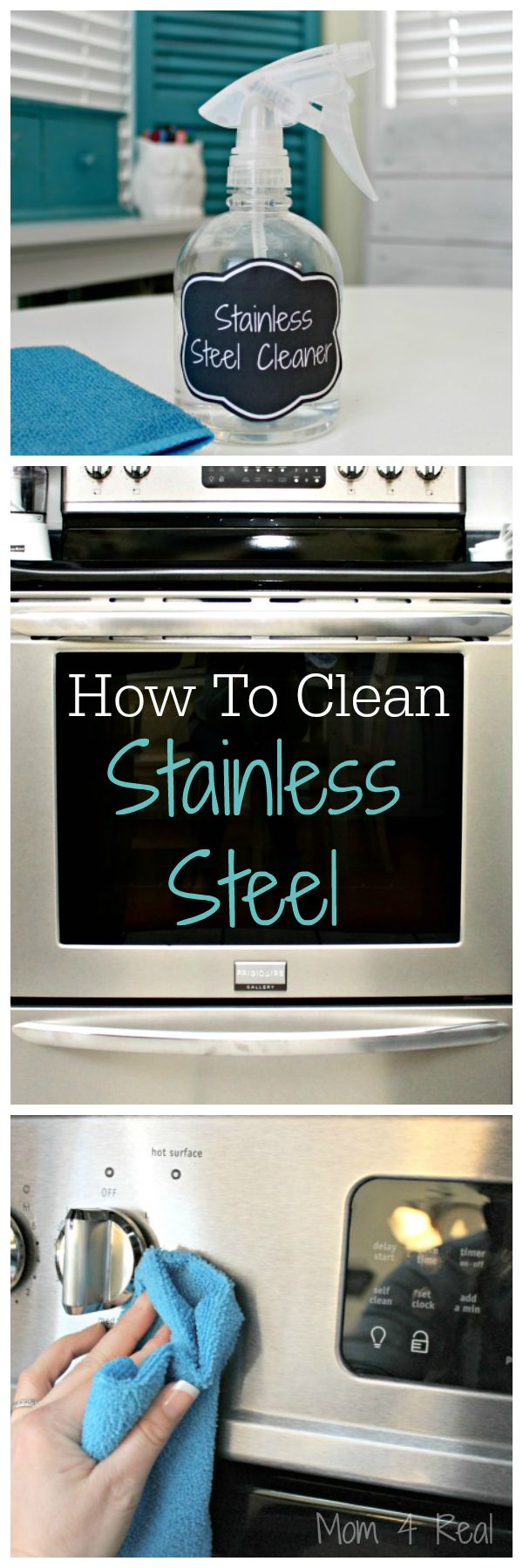 I've gotten tons of emails asking me how to clean stainless steel appliances, and until this past month, I couldn't answer because I didn't own any. Well, now I do, and I'm actually shocked at how easy it is to keep clean. You don't need anything fancy at all, and no chemicals whatsoever!