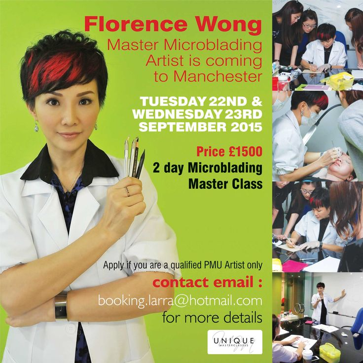 Are you a qualified PMU Artist and want to train in Microblading? http://larra.co.uk/event/eyebrow-embroidery-with-florence-wong/ … BOOK IN