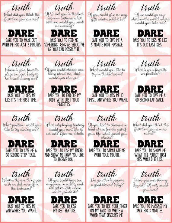 Truth Or Dare Couple S Naughty Game Perfect For Date Night Box