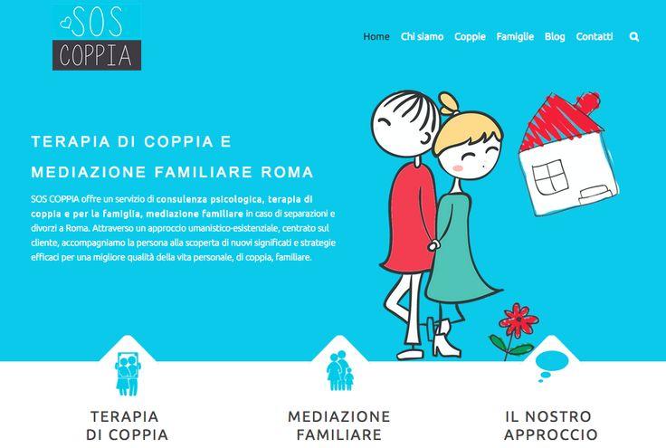 Creazione sito web SOS Coppia. Settore Psicologia: terapia di coppia e mediazione familiare. http://www.soscoppia.it/