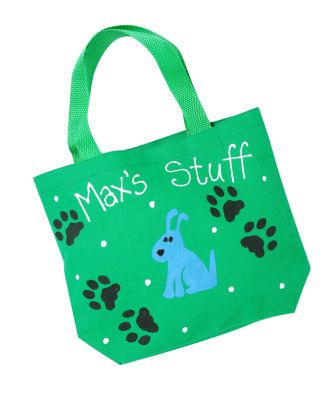Max's Stuff Tote #dog #pet.. Cute idea!