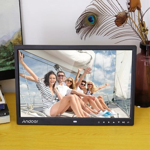"Andoer 15"" TFT LED Digital Photo Frame Screen Desktop Album Display Image 1080P"