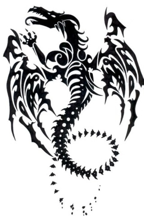 Awesome Tribal Dragon Tattoo Tattoos Ink Tattoo Drawings