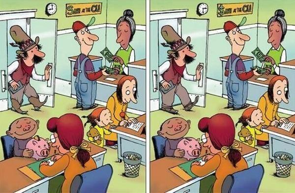 Temukan ada berapa perbedaan yang terdapat pada gambar berikut ini ?