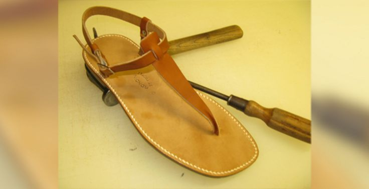 """Handmade leather sandals called Les Tropeziennes, Quite """"cher"""" (130 euro) but I won't turn them down as a gift! This style is called Salome (Avery's fav)"""