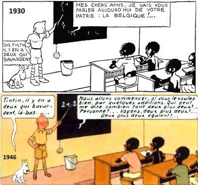Tintin au Congo 1930 vs 1946