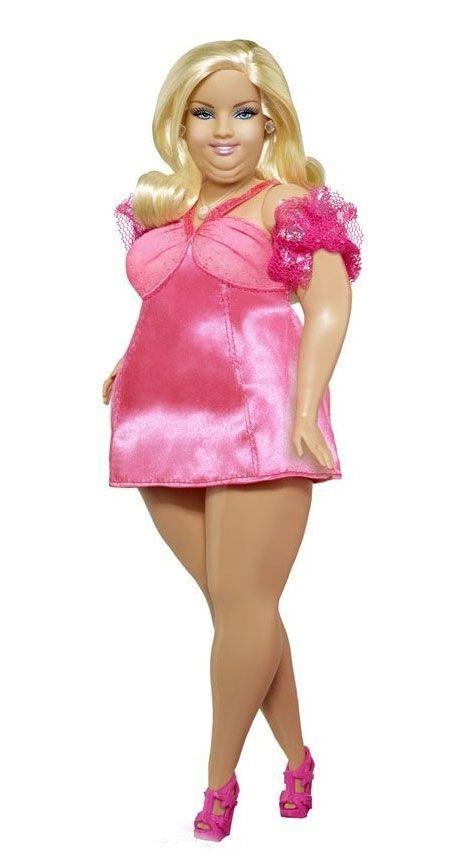 Curvy Plus Size Barbie; pink dress; dolls  http://traffurl.com/?g/2QANxSL