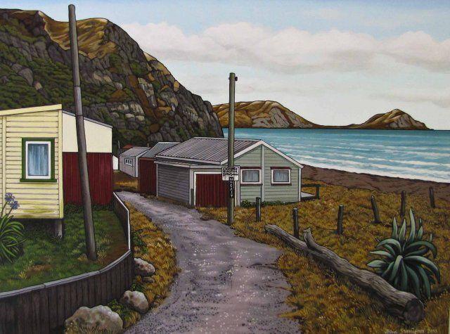 John Staniford painting, Hawkes Bay, NZ artist