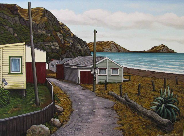 John Staniford painting, Hawkes Bay, NZ artist