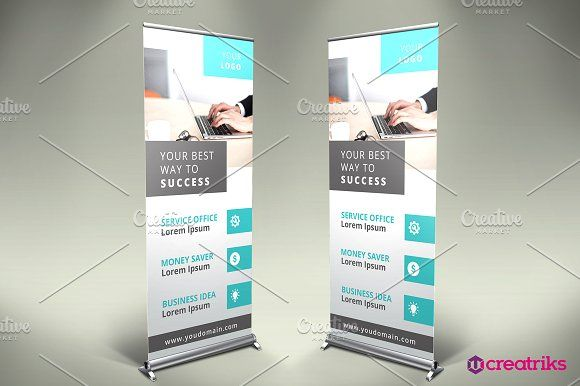 Business Roll Up Banner - v049 by Creatricks on @creativemarket