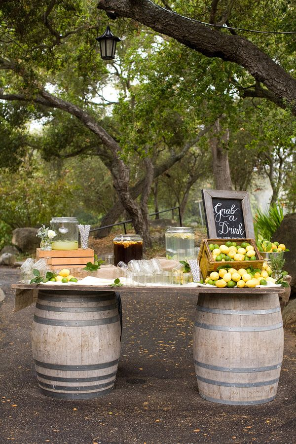 Sourcing wine barrels vs. using folding tables would be well worth the effort!