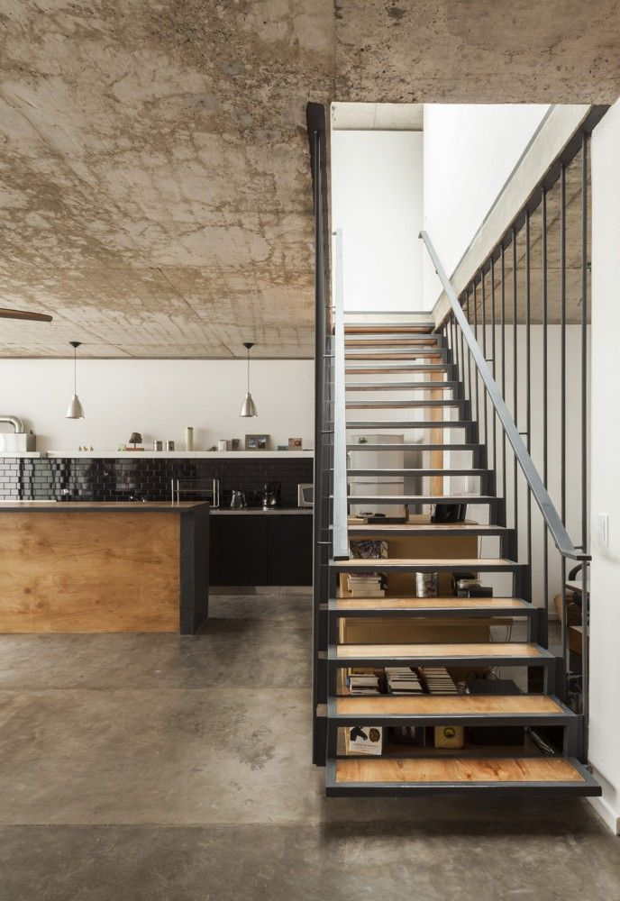 Interior design | decoration | loft | materials | Office & House Luna in Buenos Aires,