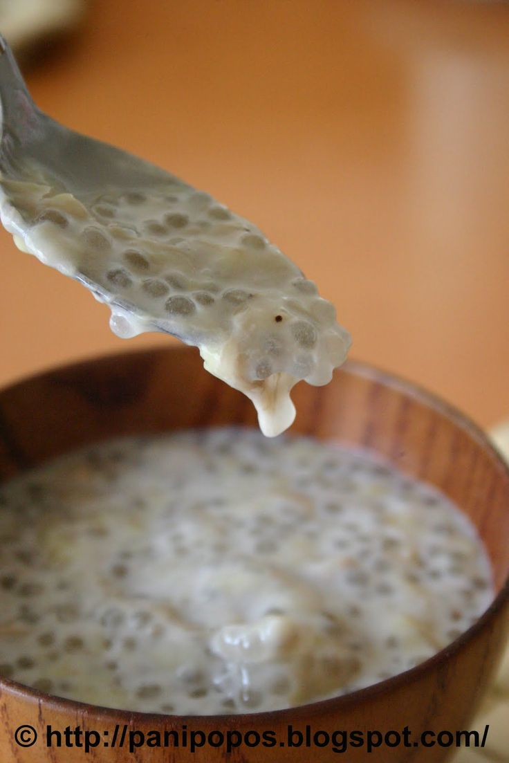 Suafa-i - Samoan banana soup with sago (tapioca pearls).