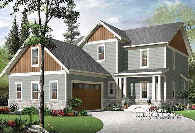 Plan de maison no W3855-V1 de dessinsdrummond Idées maison
