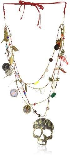 "Mercedes Salazar ""Skulls"" Multi Strands Black and White Assorted Beads and Charms Necklace Mercedes Salazar, http://www.amazon.com/dp/B006TPRZ0I/ref=cm_sw_r_pi_dp_7UgPqb1369E44"