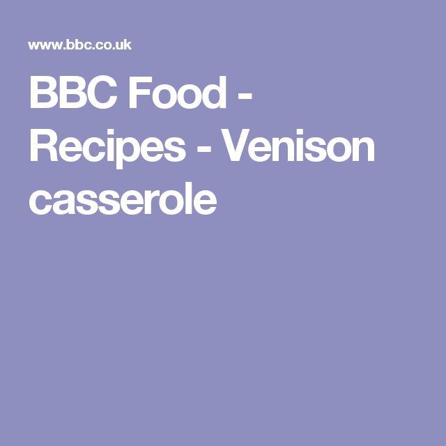 BBC Food - Recipes - Venison casserole