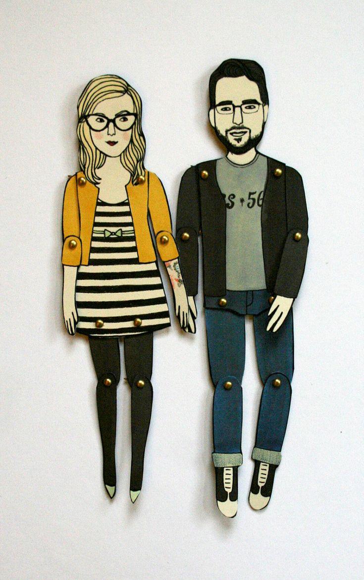 best christmas gift idea, custom articulated dolls by Jordan Grace Owens on Etsy