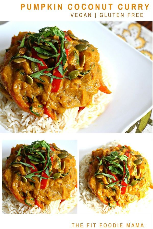 Vegan Pumpkin Coconut Curry Recipe {gluten free, vegetarian, healthy meal, thai pumpkin curry, foodie friday #fitfluential}