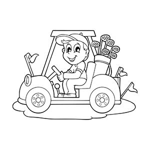 Free Printable Car Coloring Pages For Kids Golf Cars