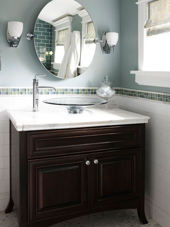 floating sinks that sit above the vanity really add appeal 24130