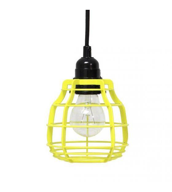 Gele lamp zwart snoer 59,-