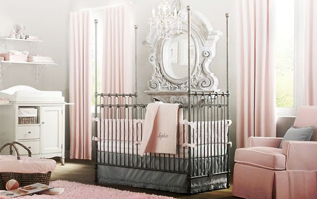 17 best images about chambre bebe fille on pinterest for Chambre fille rose et gris