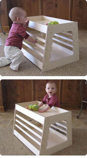 Baby play table Such a good idea to encourage cruising and standing.