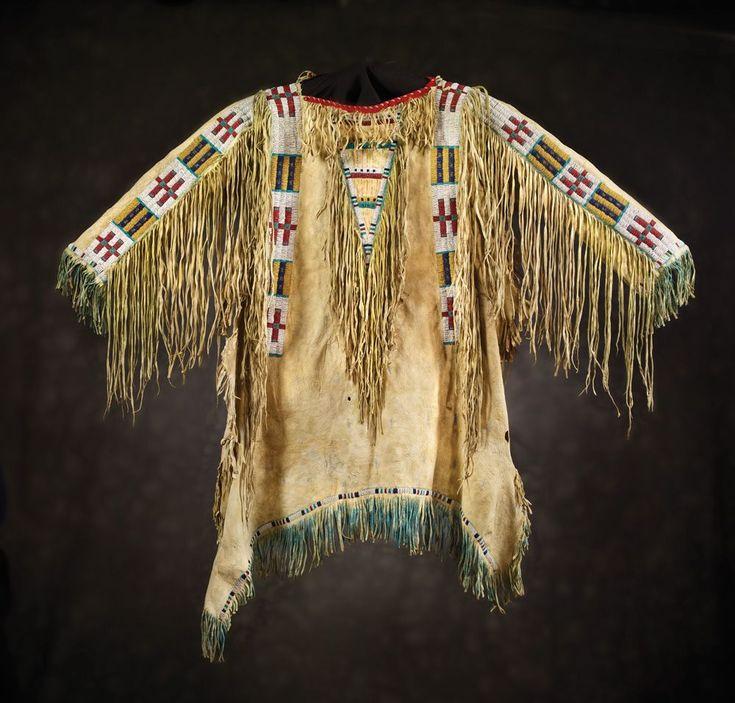 Sioux Man's Beaded & Fringed Shirt, c 1880