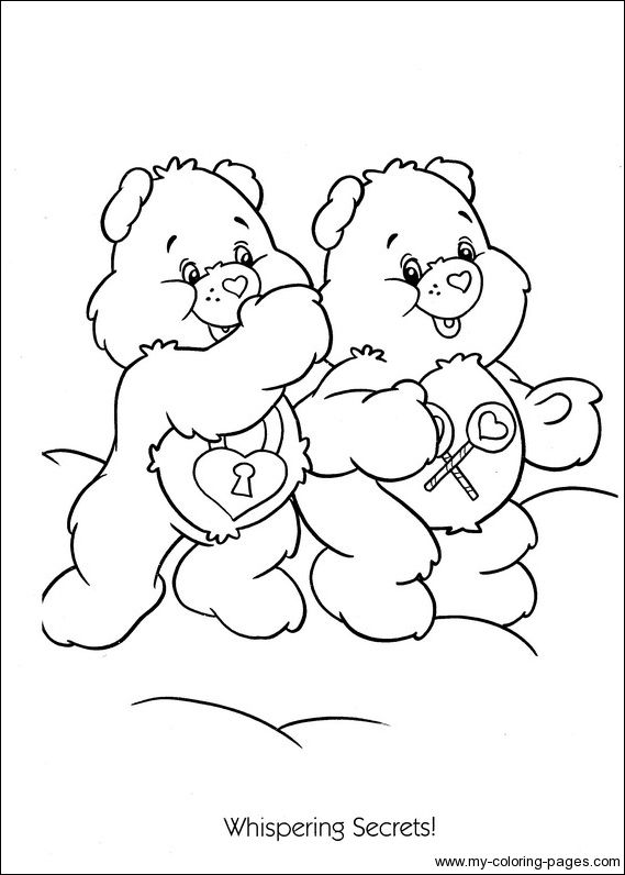 care bear coloring pages christmas - photo#49