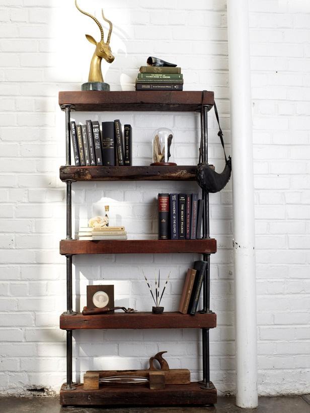 Industrial Rustic Wood Shelves Diying Pinterest