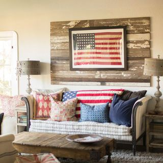Nothing says country like a vintage flag.