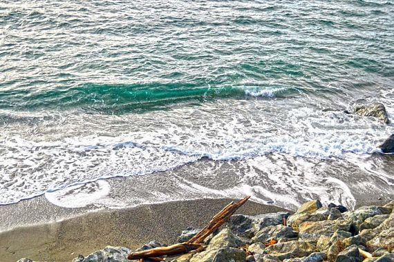 Rock and Beach photography photo instant download