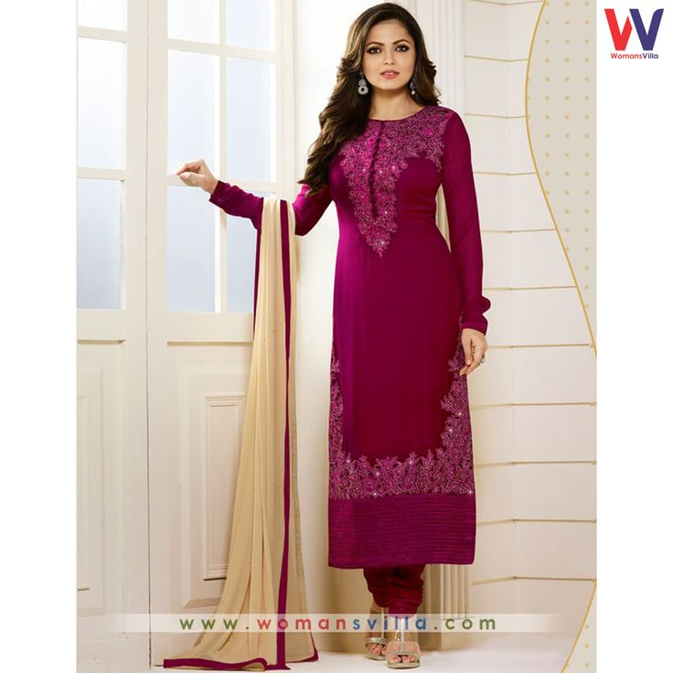 Vicious Black Colored Georgette Designer Straight Cut Salwar Suit#Womansvilla