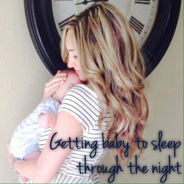 Getting baby to sleep through the night by The Lovely Lane  sleeping through the night, baby schedule, babywise, 2 month old baby