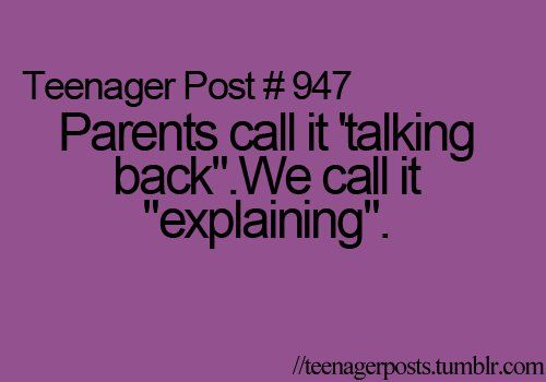 Uggggg this is sooooo annoying when parents and teachers especially do this!!!