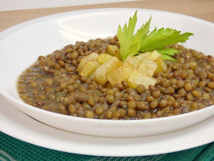 Guiso de lentejas al curry