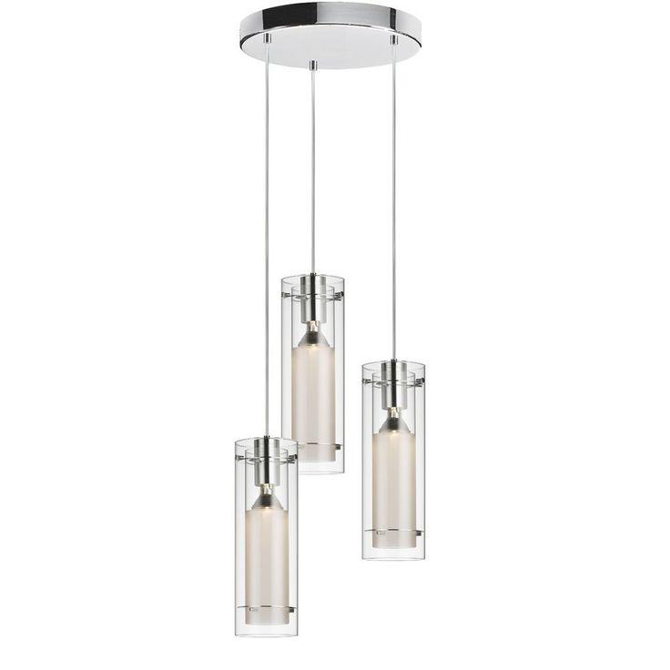 Mejores 216 imgenes de lights en pinterest ideas para casa dainolite 12153r cf pc 3 light pendant round canopy clear glass aloadofball Images