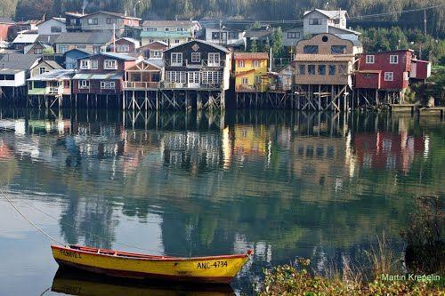Palafitos, Chiloé Island, Chile | en.wikipedia.org/wiki/Chilo%C3%A9_Island