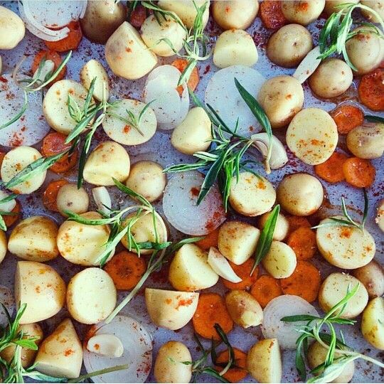 Fırında Sebzeler