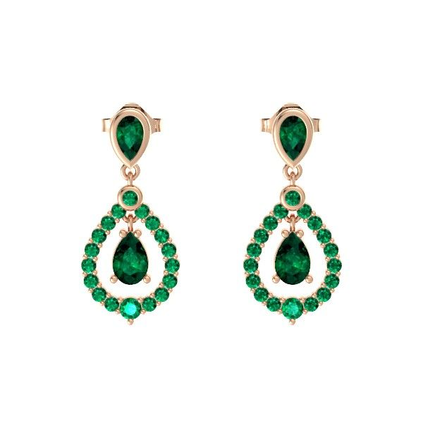 Seeing green . The Kate Earrings styled in emerald & rose gold