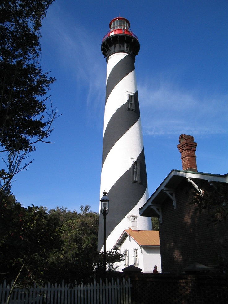 The St. Augustine Lighthouse is an active lighthouse on the north end of Anastasia Island, within the current city limits of St. Augustine, Florida.