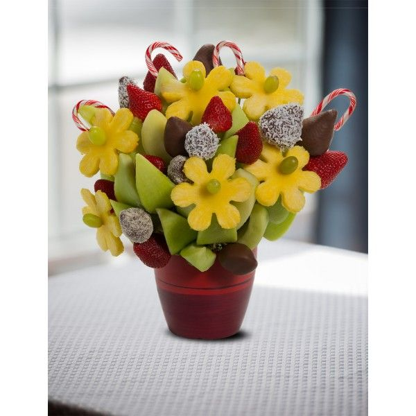 Candy Cane Blossoms scent free fruit bouquet are great for all occasions and make great gifts ideas or decorations from a proud Canadian Company. Great alternative to traditional flowers or fruit baskets
