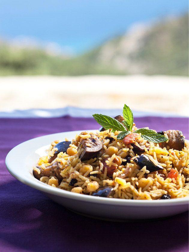 【ELLE a table】なすとひよこ豆のピラフレシピ エル・オンライン