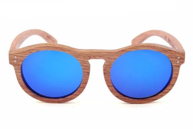 Cat-Eye Wooden Sunglasses | Beatnik Style Polarized Shades with Travel Tube