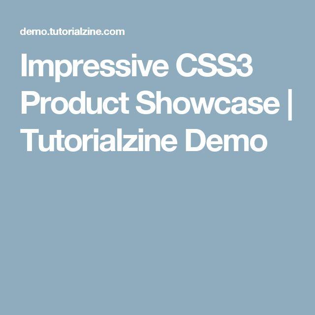 Impressive CSS3 Product Showcase | Tutorialzine Demo
