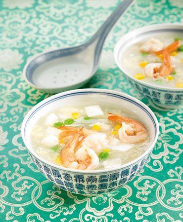 Tofu soup with langostinos (shrimp) | Asian Food! | Pinterest | Tofu ...