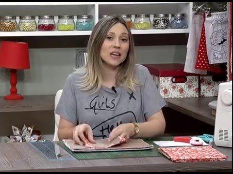 Como fazer um estojo para tablet com tecido - 20/04/16 - 2da parte - YouTube